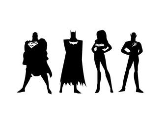 Justice League silhouettes SVG bundle