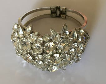 1950s Hinged Cuff Bracelet.