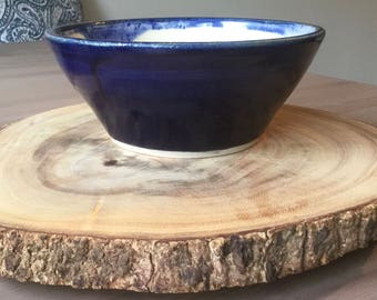 Dark Blue & White Medium Bowl
