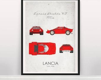 Lancia Stratos HF 1970s Poster
