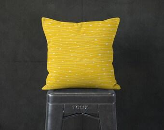 Modern Yellow Pillow - Modern Farmhouse - Striped Pillow Sham - Modern Home Decor -  Decorative Pillow - Textured Pillow - Accent Pillow