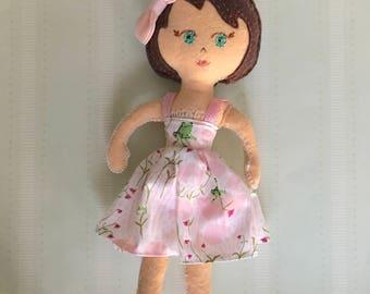 Eva, a Dove Cottage Doll Design, handmade in Hawaii, original unique doll