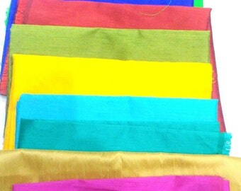 Pure Dupion Silk, Solid Different 10 Colors Dupioni Silk Fabric by yard, Mulberry Silk Fabric,Raw Silk, Multicolor Dupioni silk Fabric