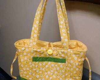 Quilted Handmade Sunflower Handbag