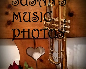 Lovely Original Flute Trumpet and Roses Photograph Music Still-Life