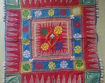 vintage Gypsy ghodiyu with reverse applique from Bhil tribe central India.