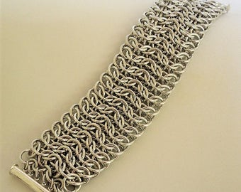 Interwoven 4 in 1 Sheet Chainmaille Bracelet