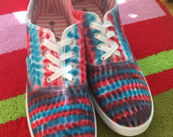Patriotic Red, White, and Blue Sneakers!