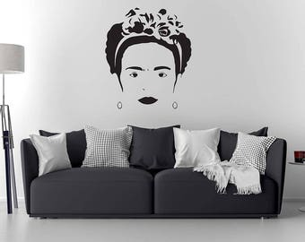 Frida Kahlo Wall Decal/ Frida Kahlo Art / Home Decor / Wall Sticker