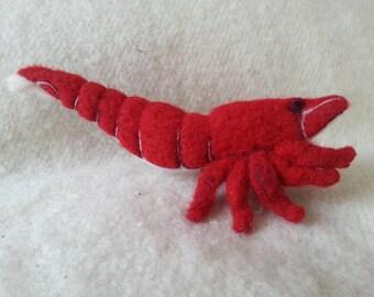 Shrimp Needle felted wool shrimp red sakura shrimp