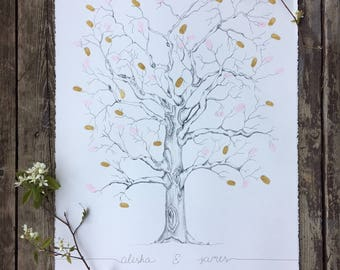 Wedding Guestbook Fingerprint Tree