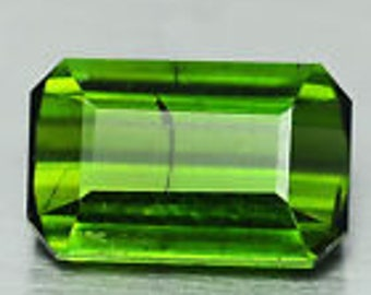 Gemma green tourmaline octagonal cut 1.54 ct origin nigeria