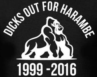 Dicks Out For Harambe Sticker