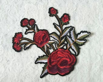 DIY spring/summer iron on embroidery patches/flower applique/embroidery applique for shirt/dress/bag