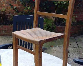 Vintage wooden childrens school chair