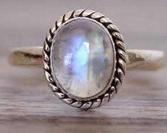 Rainbow Moonstone Ring ,Gemstone Ring ,Women Handmade Ring , Fashion Ring ,925 Sterling Silver Ring ,Moonstone Ring,Oxidized Ring