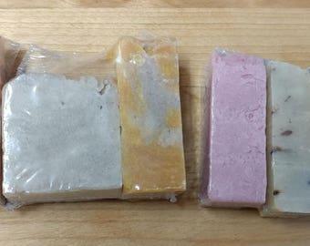 6 Soap Samples - Mini Soap - Floral Scented Soap - Vegan Soap - Moisturizing Soap - Travel Size Soap