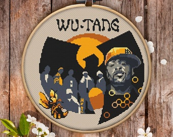 Wu-Tang Clan Cross Stitch Pattern for Instant Download - 070| Easy Cross Stitch| Counted Cross Stitch| Embroidery Design|Needlecraft Pattern