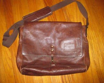 Leather Satchel (Banana Republic)