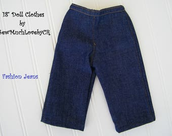 "18"" Doll Clothes, Fashion Jeans for dolls, Fits American Girl Dolls, Our Generation dolls"