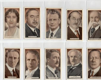 "Full set of 25 ""Famous Scots"" Cigarette Cards from 1935"
