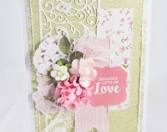 Handmade Sending Love card