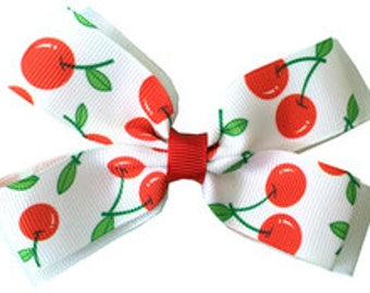 Double Layer Hair Bow - various prints