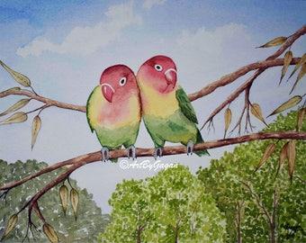 Love birds - Art print
