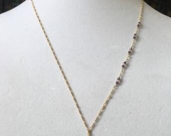 Gold lotus pendant necklace