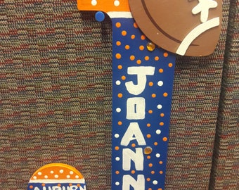 Auburn tigers handcrafted letter