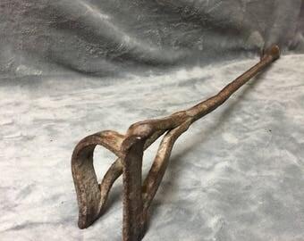 Antique Cattle Branding Iron, Ranch Decor, Cowboy Decor, Western Decor, Barn Decor