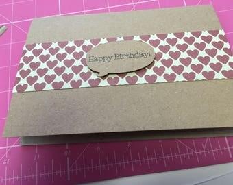 Hearts design Birthday card