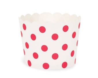 Baking Cups - Red Spots