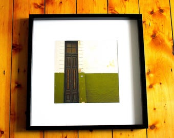 Framed Buenos Aires Street Photography - Green Door - Argentina, South America Life - Colourful photo - Wall Art - Home Decor