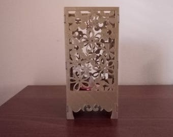 Floral Pattern LED Tea Light Lamp 3D Printed