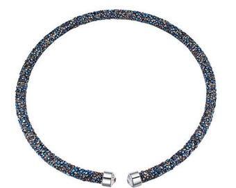 Austrian crystal necklace Metal Blue