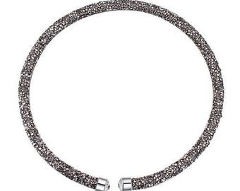 Austrian crystal necklace black diamond