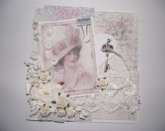 Vintage card with a romantic touch