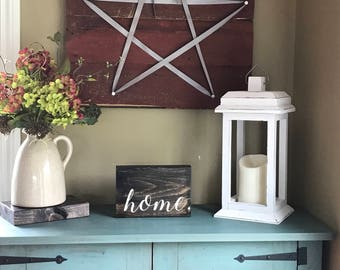 Rustic Lantern - Wood Lantern - Wedding Lantern - Christmas Gift for Mom- Wedding Decorations - Rustic Home Decor - Farmhouse Decor