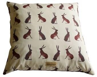 Hares Print Cushion