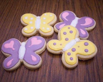1 Dozen Butterfly Cookies, butterfly, sugar cookies, spring