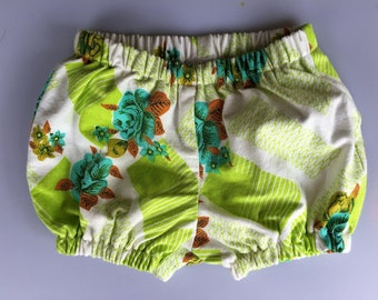 Baby Bloomers/ Nappy cover. Authentic flower/geometric vintage cotton. Size 0
