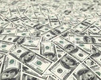Money printed canvas