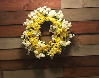 Handcrafted with love 8' flower wreath