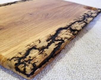 Oak Cutting board with Lichtenberg Wood Burning