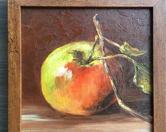 Apple Kitchen Still Life Fruit Original Oil Painting