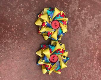 Puzzle Piece Bow