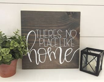"12""X12"" There's no place like home sign"