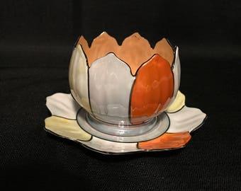 Vintage Noritaki Mayonnaise/Jam/Condiment Serving Bowl-Rice Bowl-Morimura-Japanese Lusterware-Lotus