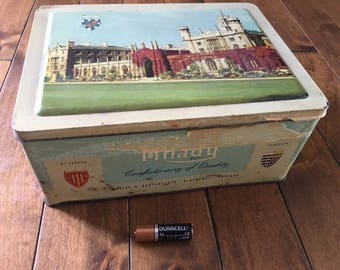 Milady Confectionery Vintage Tin of England Oxbridge sister colleges
